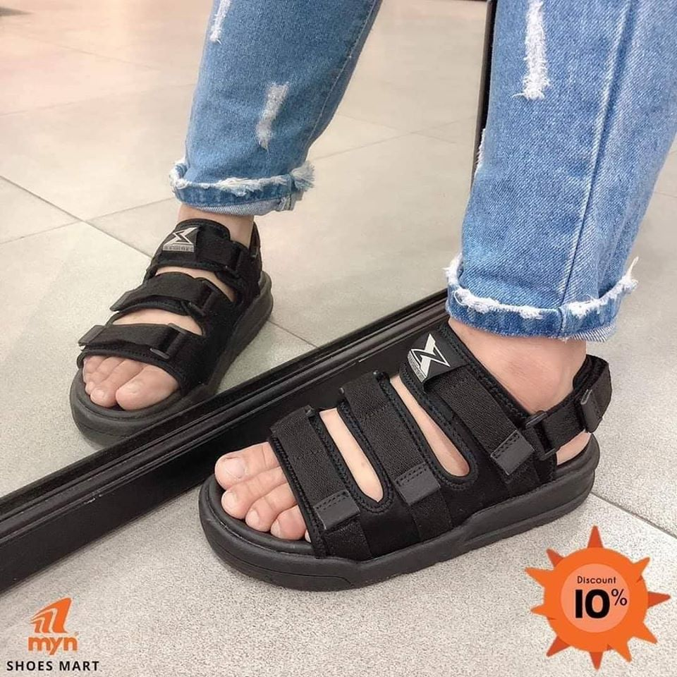 giày sandal màu full đen
