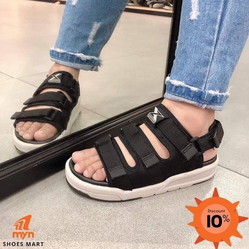 giày sandal màu đen trắng