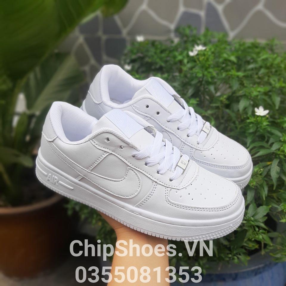 giày thể thao nike air for 1 full white
