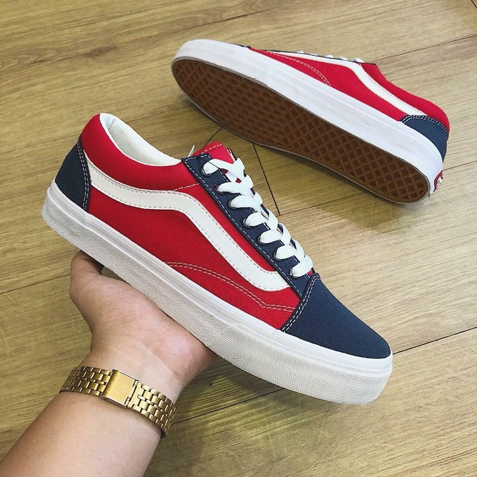 giày vans old skool navy đỏ
