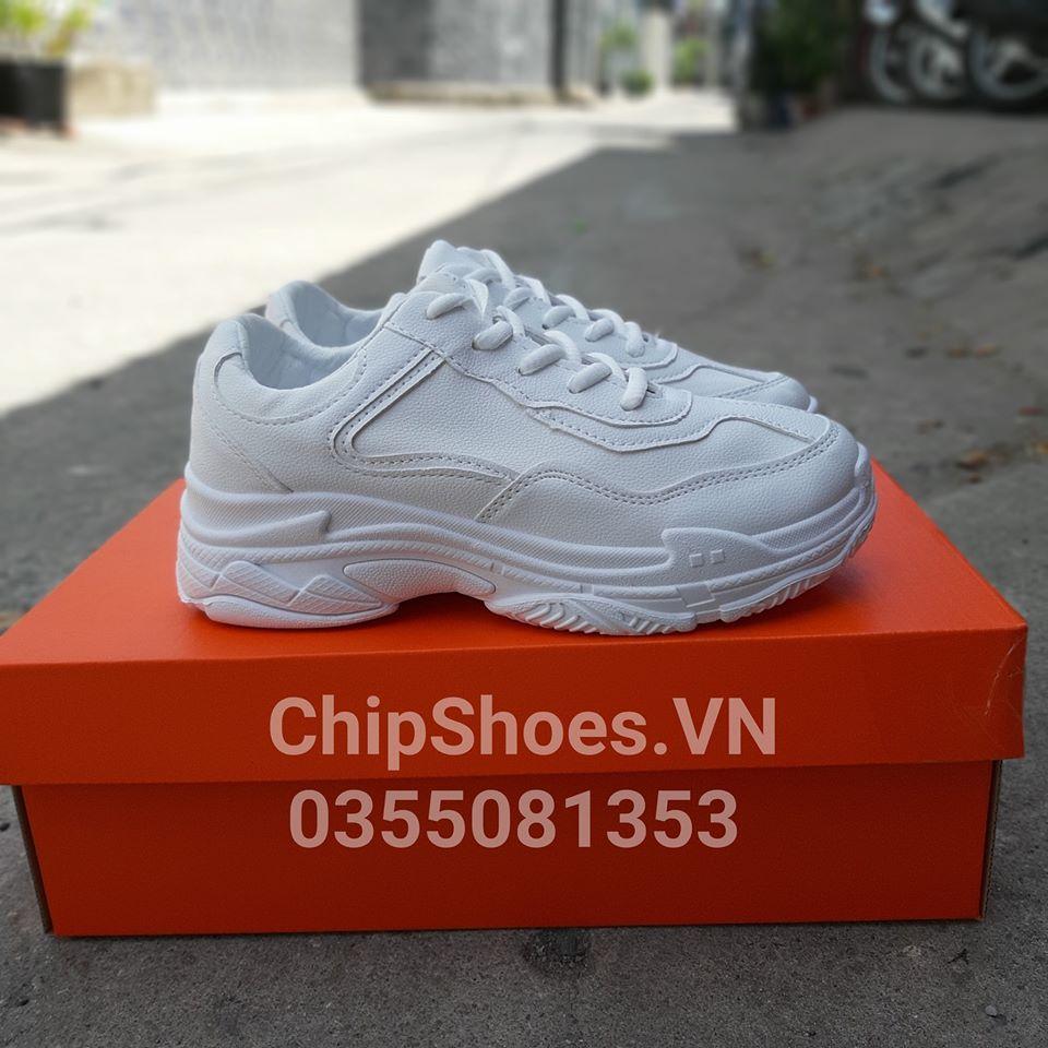 giày thể thao thời trang gucci full trắng
