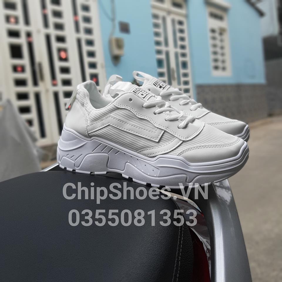 giày thể thao thời trang coex full trắng