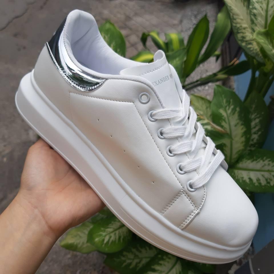 giày thể thao mcqueen bạc