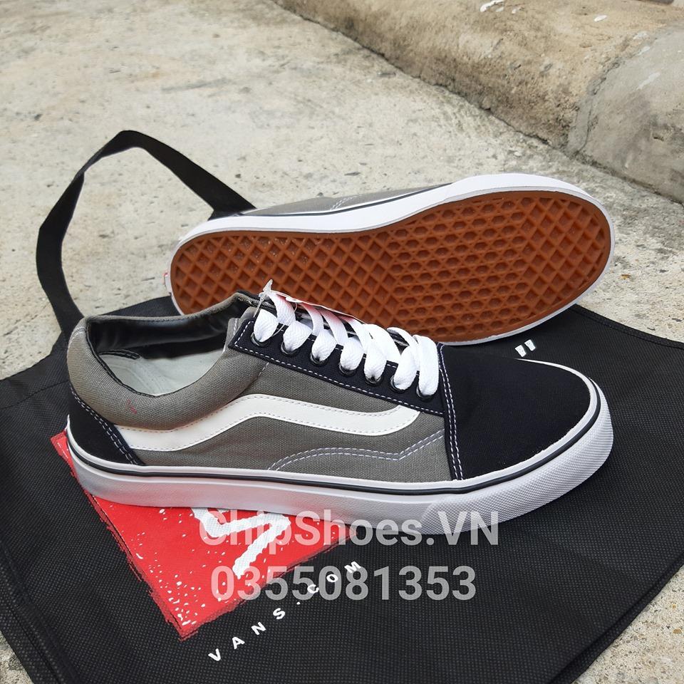 giày vans old skool xám đen