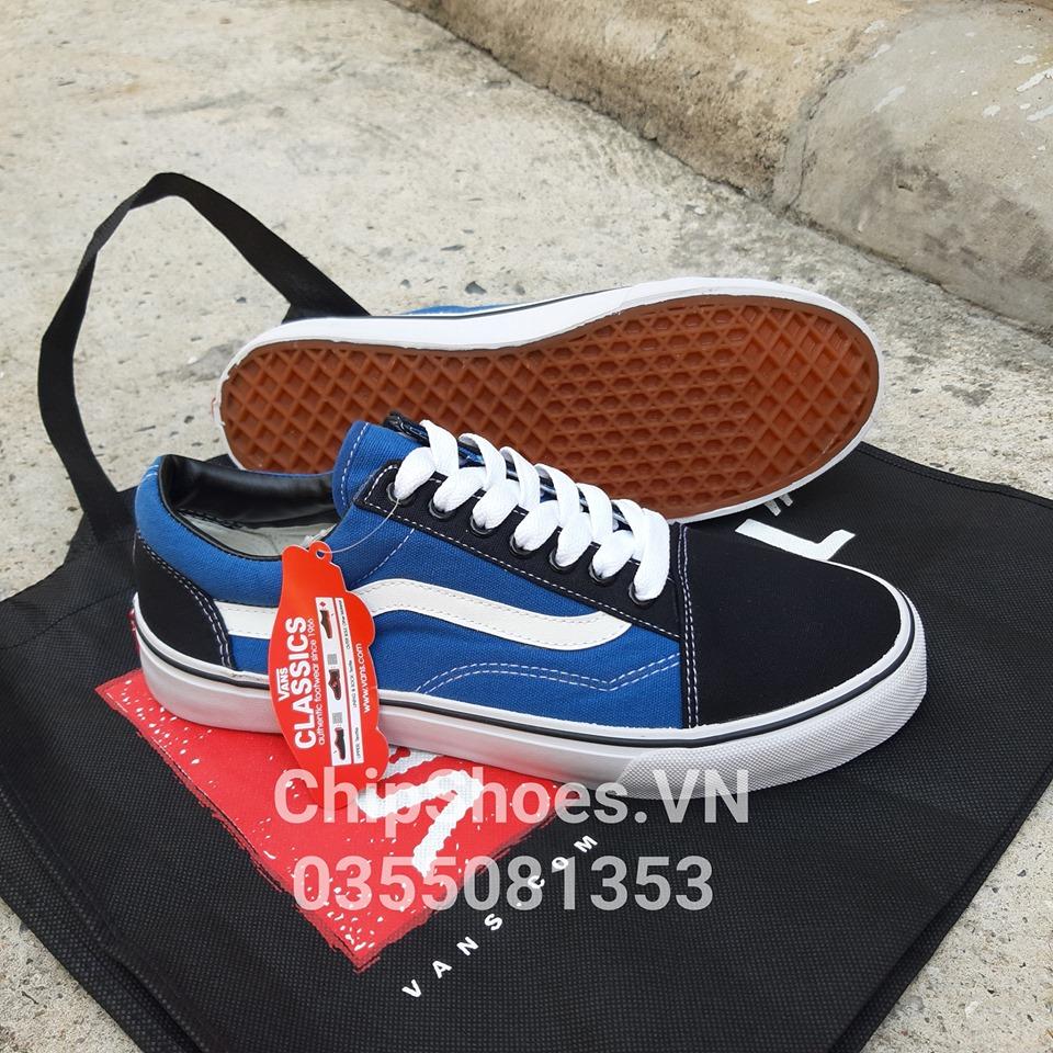 giày vans old skool xanh đen