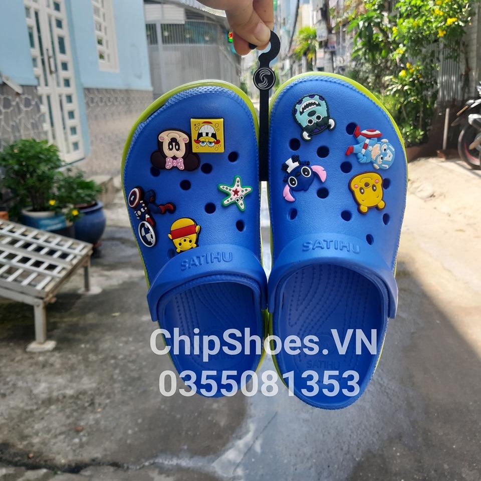 dép crocs màu xanh dương 6 st