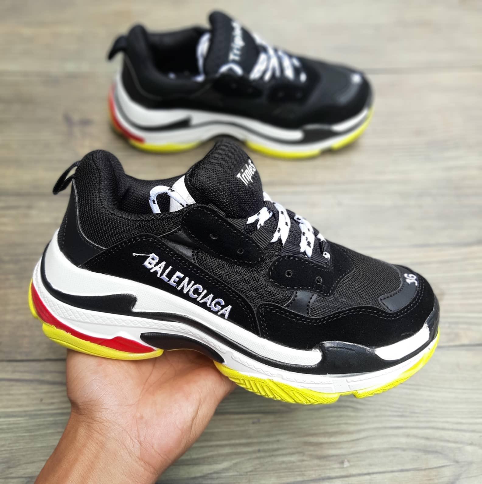 giày thể thao balenciaga đen vàng