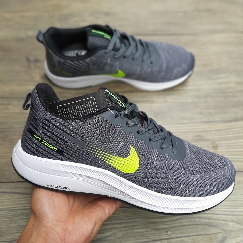 giày thể thao nike zoom running xám