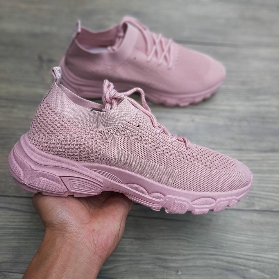 giày cổ chun thun nữ hồng