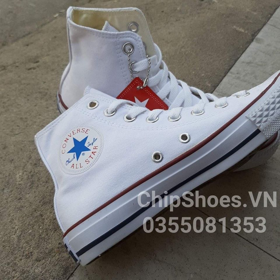 giày converse classic cao trắng