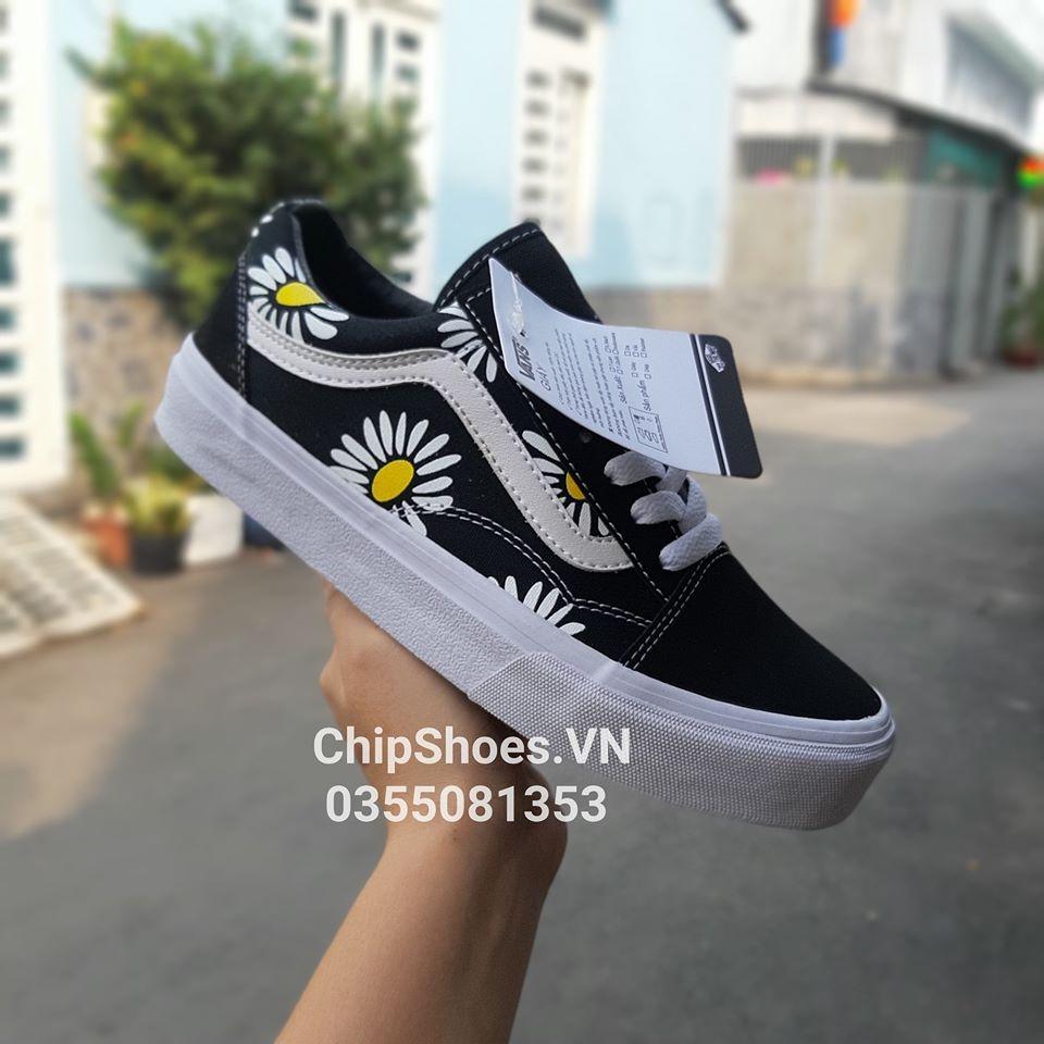 giày vans old skool hoa cúc