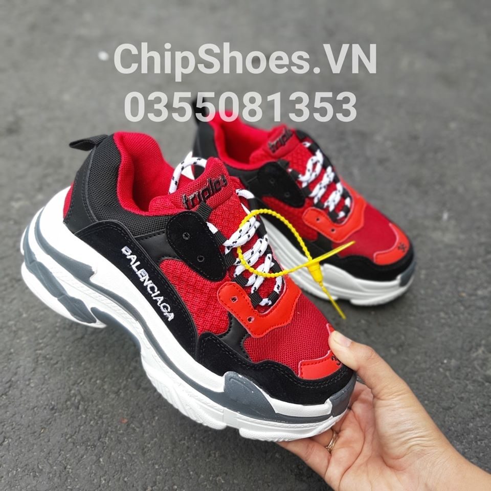 giày thể thao balenciaga đỏ