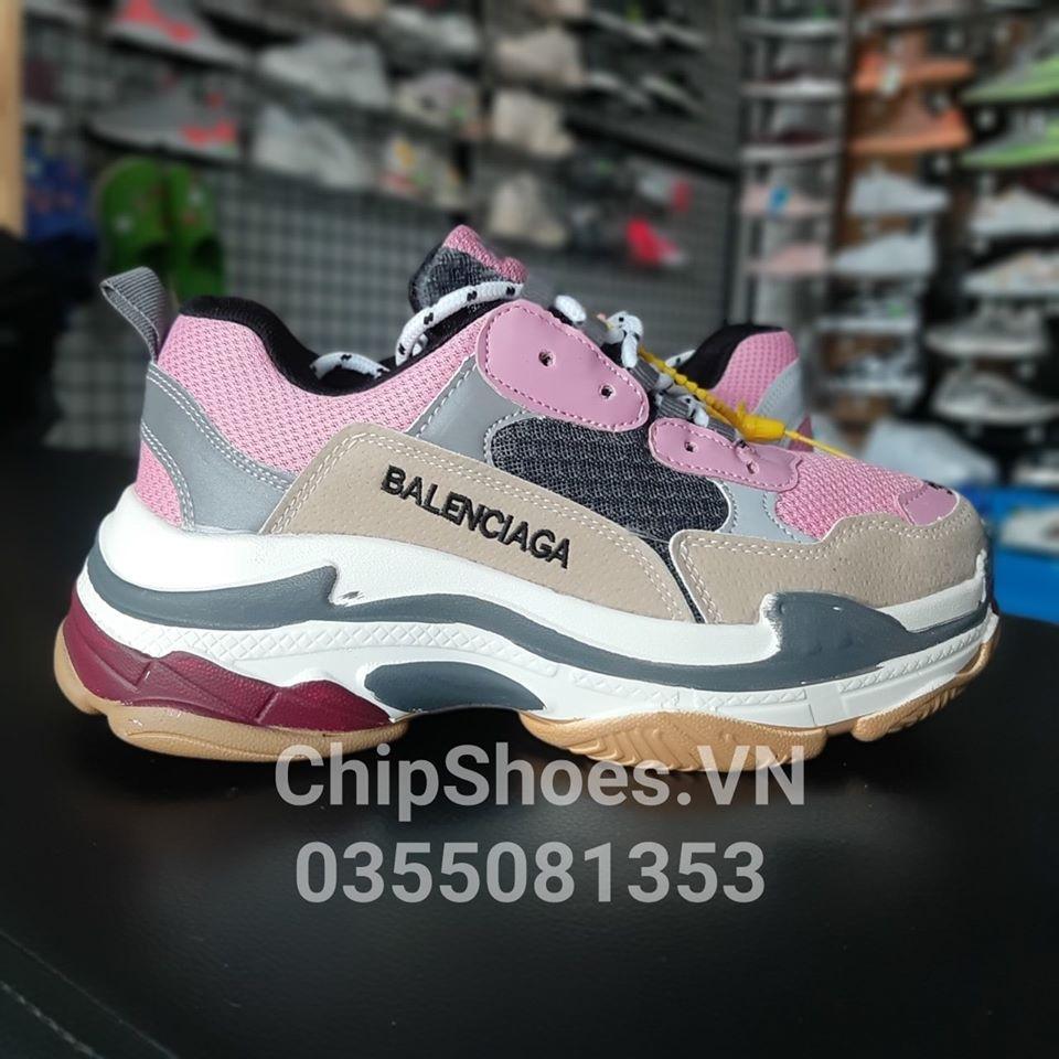 giày thể thao balenciaga hồng phản quang