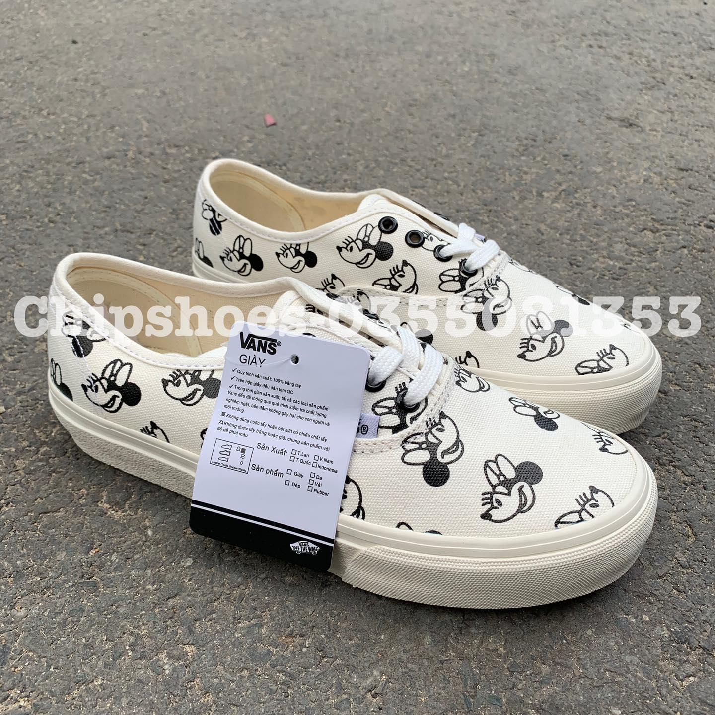 giày vans classic mickey trắng