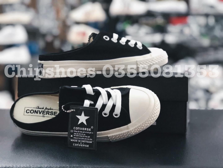 giày đạp gót converse đen