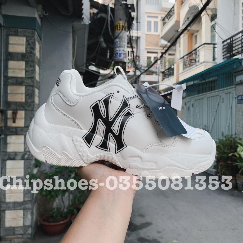 giày mlb ny yankees full trắng