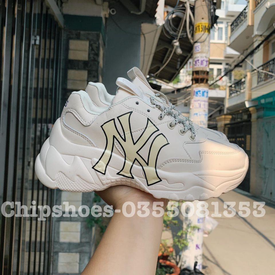 giày mlb ny yankees chunky trắng vàng