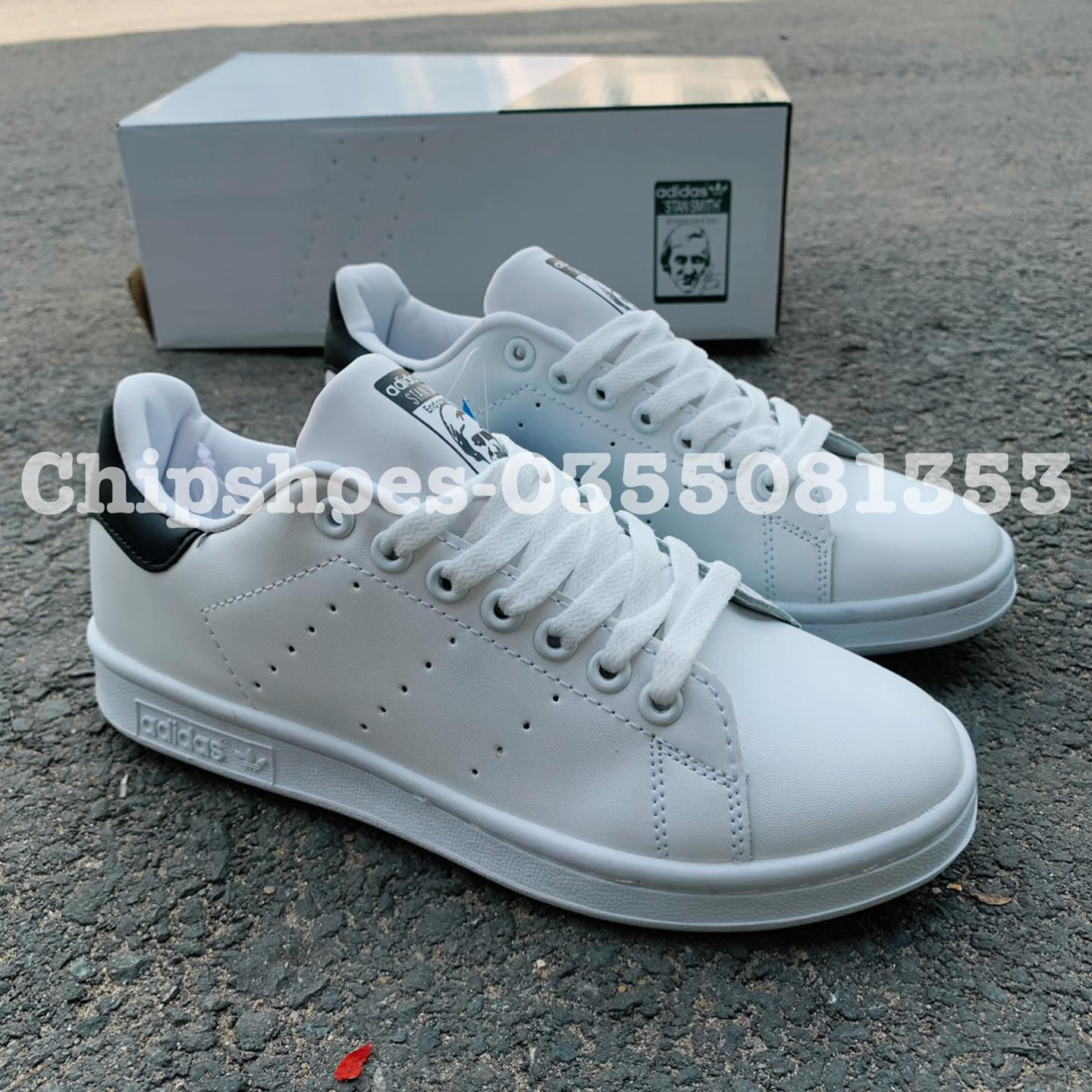 giày adidas stanmith black