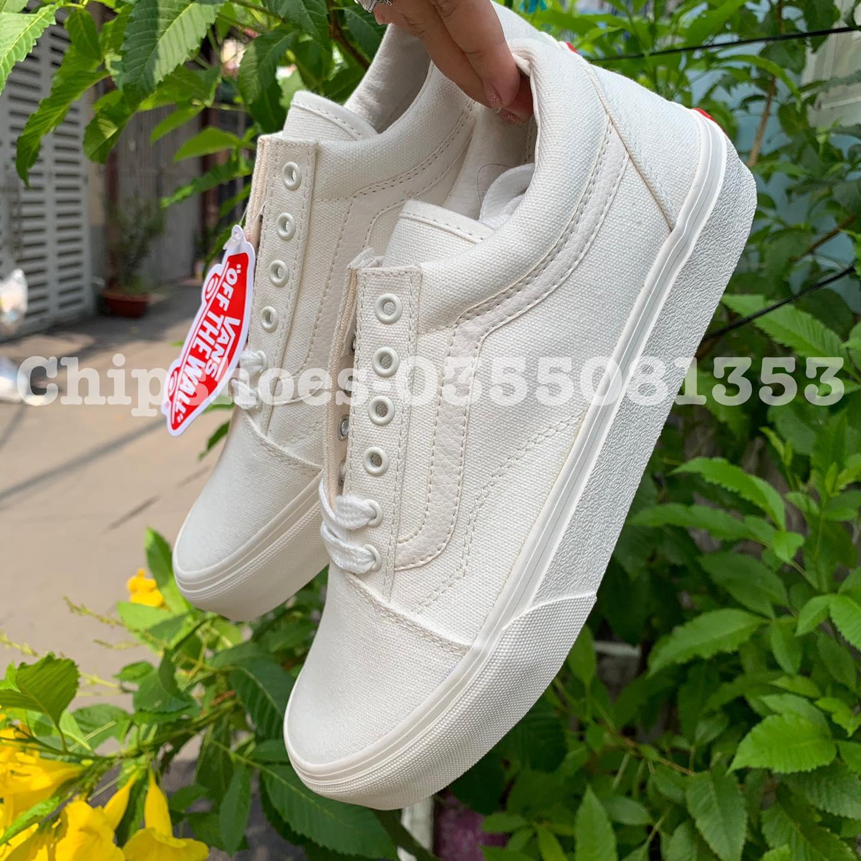 giày vans full trắng