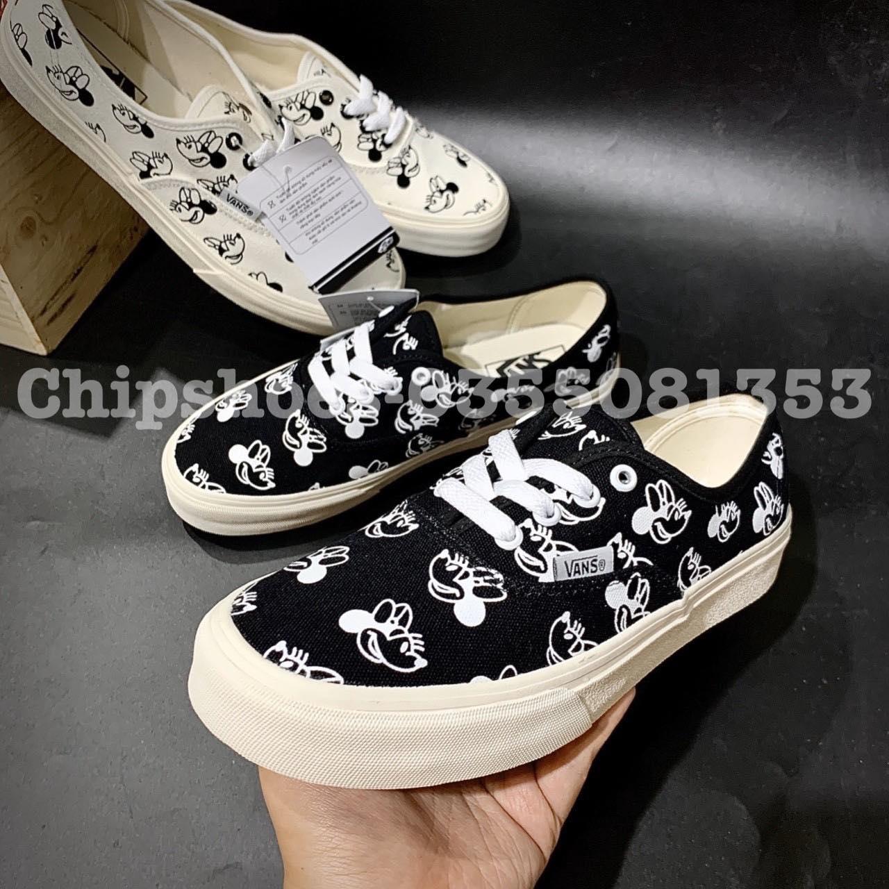 giày vans mickey đen